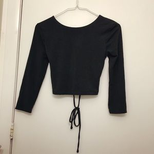 Forever 21 forest green crop shirt Size xs